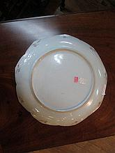 Chinese Export Famille Rose Porcelain Lotus Dish
