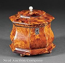 A George III Tortoiseshell Octagonal Tea Caddy