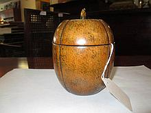 An English Melon-Form Tea Caddy