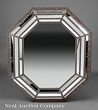 A Argent Octagonal Cushion Mirror