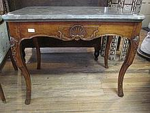 A French Provincial Carved Walnut Console Table