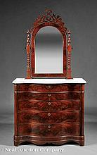 J. & J.W. Meeks Carved Mahogany Dressing Chest