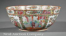Chinese Export Canton Famille Rose Punchbowl