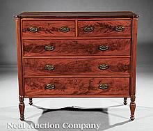 An American Federal Mahogany Chest of Drawers