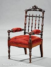An American Rococo Carved Walnut Child's Chair