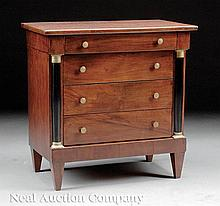 Miniature Empire-Style Mahogany Chest of Drawers