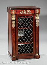 Gilt Bronze-Mounted Mahogany Side Cabinet