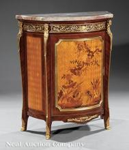 Pair of Louis XV/XVI-Style Bronze-Mounted Cabinets