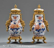 Pair of Chinese Export Imari Vases
