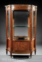 Louis XVI-Style Mahogany and Gilt Vitrine