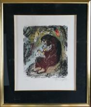 Marc Chagall Meditation Lithograph