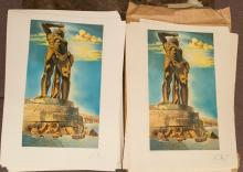 (202) Salvador Dali Colossus of Rhodes Lithographs.