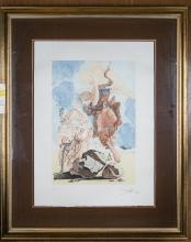 Salvador Dali Eternal Angel Color Etching