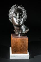 Bronze Sculpture of a Classic Greek Head