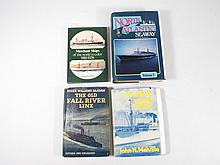 FOUR HARDCOVER OCEAN LINER BOOKS: MCADAM, DUNN, ETC.