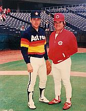 JOHNNY BENCH, PETE ROSE, NOLAN RYAN BASEBALL GREATS