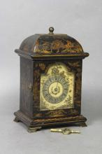 George III Style Japanned Miniature Mantle Clock by Kands