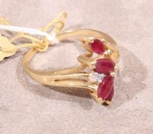 14k Gold & Ruby Ring (1)