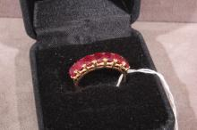 14k Gold & Ruby Ring Size 9