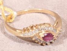 14k Ruby & Diamond Ring (4)