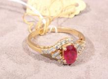 18k Gold Ruby & Diamond Ring (5)