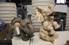 (2) Elephant Statues