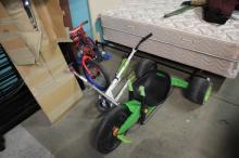 Spiderman Bike,Scooter,3Wheel Green Machine