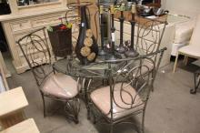 Glass Top Dining Table with (4) Chairs