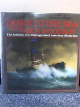 DOWN TO THE SEA WITH JACK WOODSON-HC/DJ Distinguished American Illustrator