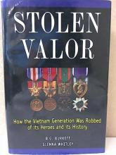 STOLEN VALOR, B.G. Burkett, G. Whitley 1999 - Hardcover w/Dustjacket Some pages at the end of this book show signs  of having been damp and are wavy, but this  is a good reading copy.