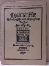 MASTERS IN ART - SERIES OF ILLUSTRATED MONOGRAPHS - SEPT 1900