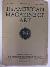 THE AMERICAN MAGAZINE OF ART - FEBRUARY 1929 - VOL.20, No2 - ILLUSTRATED Some foxing on first page and on edges; cover  detached.