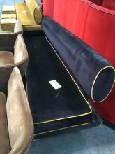 Black w/ Gold Trim Hall Sofa- Missing Leg