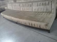 Long Upholstered Light Gold Couch