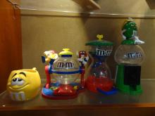 3 M&M Figurines and M&M Mug