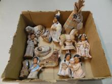 Box Lot of Southwest Nativity Set