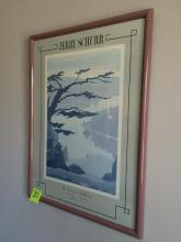Framed Poster of Jerry Schurr S. Genaro Gallery