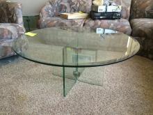 3 Piece Round Glass Coffee Tables