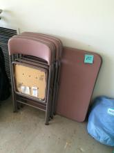 Folding Card Table w/ 4 Chairs