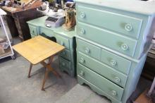 (1) 6 Drawer  Desk W/ Matching 5 Drawer Dresser