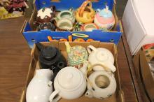 2 Boxes of Vintage Teapots