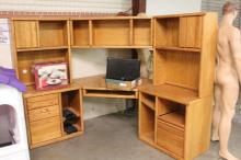 6pc Corner Office Desk