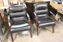 (2) Leather Office Chairs