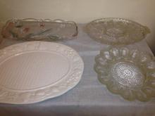 4 Glass Platters
