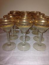 12 Vintage Cocktail Glasses