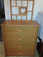 Press wood Dresser with Decorative Shelving