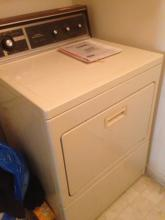 Kenmore Dryer with manual and warranty information