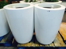 Lot of (2) 2' x 4' White Planters (EMPTY)