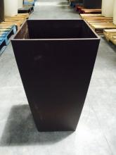 Lot of (6) 1' x 2' Square Brown Planters (EMPTY)