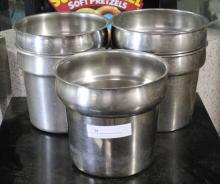 (5) Stainless Steel Beverage Cooler Buckets